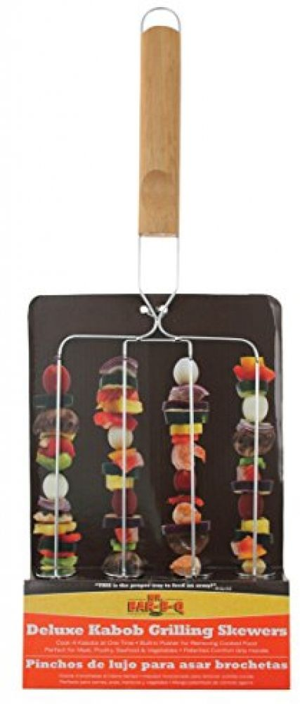 4 PRONGED KABOB GRILLING BASKET