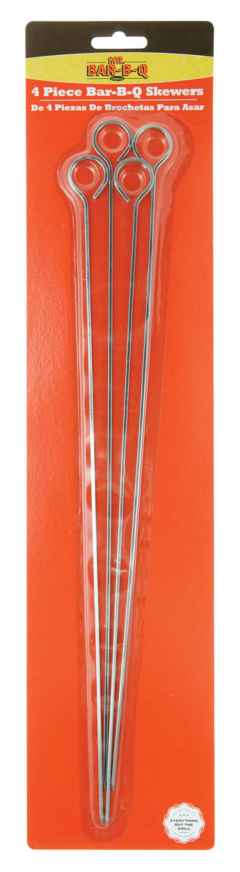 "15"" Chrome BBQ Skewers, 4 PCS"