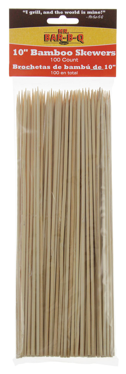 "10"" Bamboo Skewers, 100 PCS"