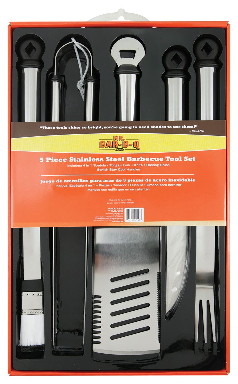 5 PC OVAL Stainless Steel Tool Set