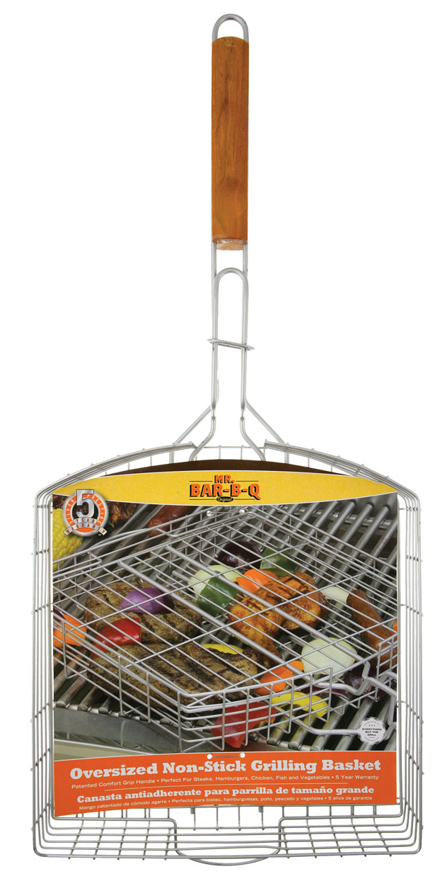 OVERSIZED SILVER NON-STICK Grill Basket