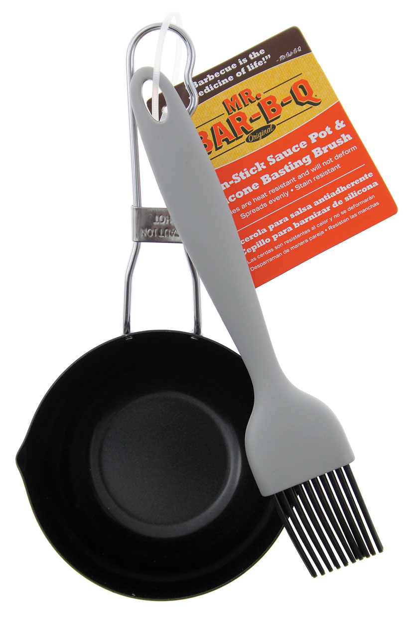 "NON-STICK 5"" Sauce Pot With Silicone Baster"