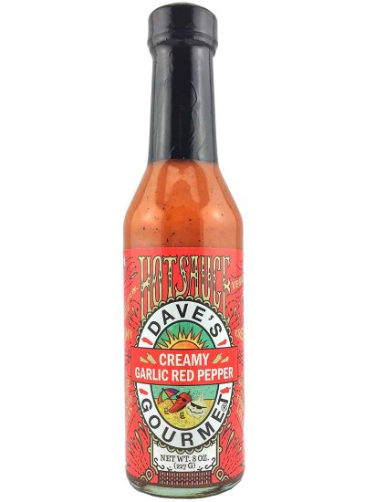Dave's Gourmet Creamy Garlic Red Pepper Hot Sauce